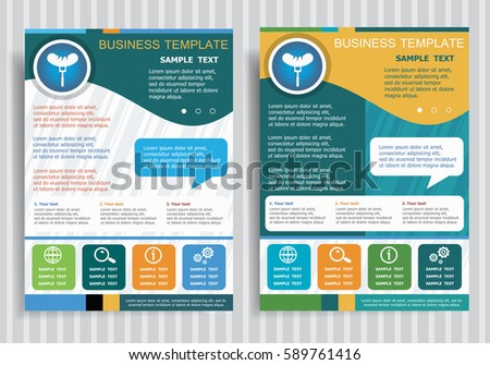 Vector Brochure Flyer Magazine Cover Poster Stock Vector