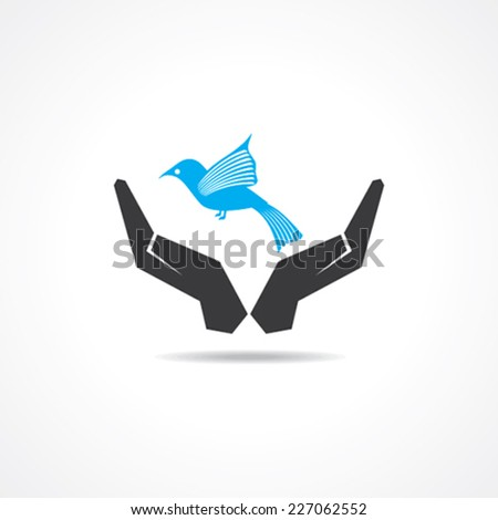 save bird concept stock vector - stock vector