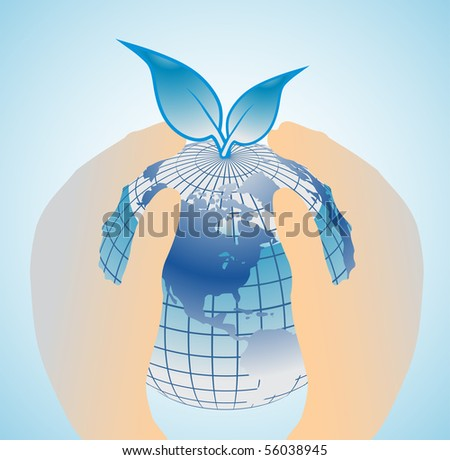 Save Earth concept - stock vector