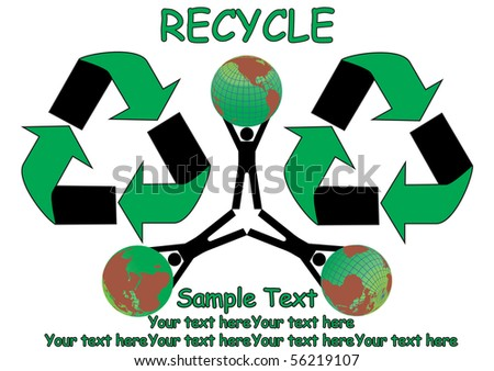 Save Earth concept - stock vector