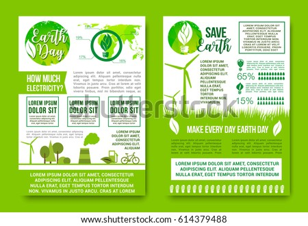 Save Earth Vector Design For Day Global Nature Conservation Concept Posters Or Infographics On