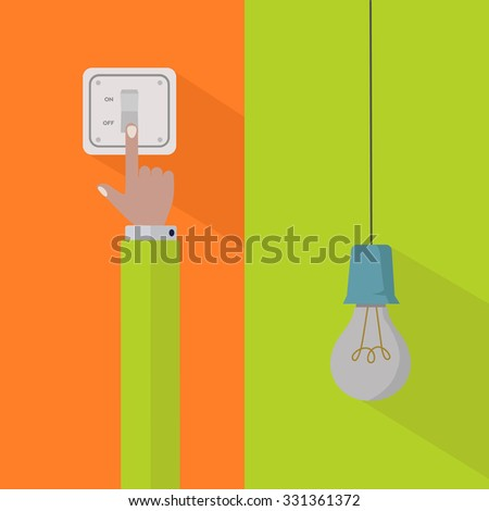 Save electricity and turn off the power vector concept - stock vector