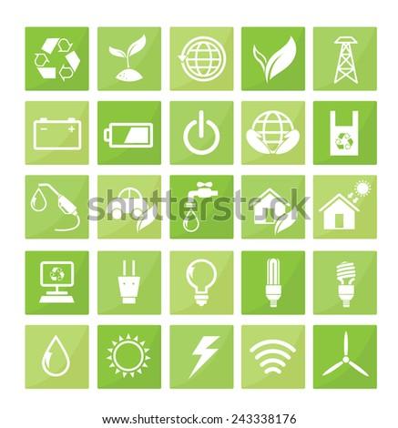 Save energy icon - stock vector