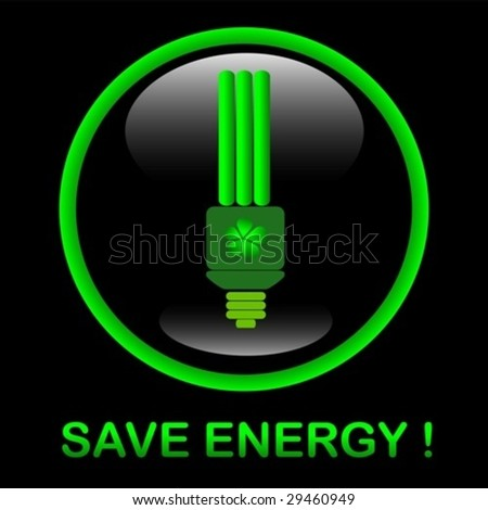 Save energy icon. vector. Jpeg also available in my port. - stock vector