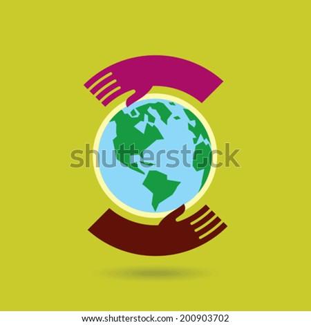 save environment - creative vector - stock vector