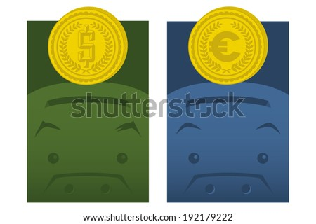 Save money - stock vector