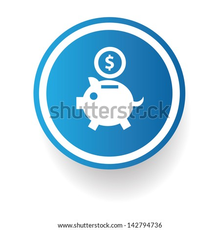 Save money symbol,vector - stock vector
