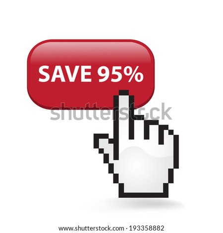 Save Ninety Five Percent Button