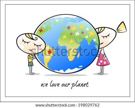 Save our planet - stock vector