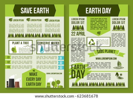 Save Planet Earth Day Poster Template Stock Vector Hd Royalty Free