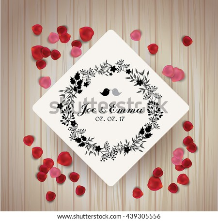 Save the date card. summer design for invitation, wedding or greeting cards. - stock vector