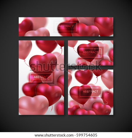 Save Date Card Templates Balloon Hearts Stock Vector HD Royalty - Holiday save the date templates free