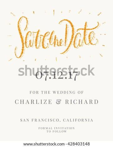 Save The Date Card Wedding Invitation Template