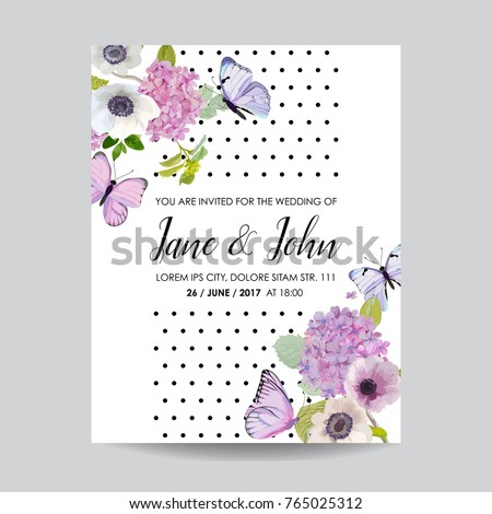 Save Date Card Wedding Invitation Template Stock Vector 765025312 ...