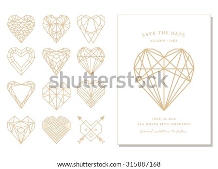 Save date geometric shapes invitation card stock vector 315887168 save the date geometric shapes and invitation card stopboris Choice Image