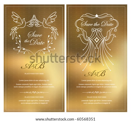 save the date. invitation card - stock vector
