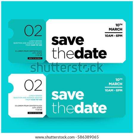 Save date minimalist modern invitation design stock vector 586389065 save the date minimalist modern invitation design stopboris Images