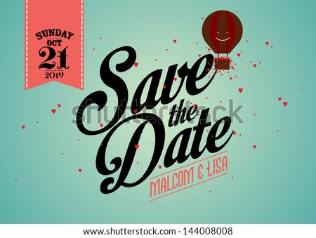 Save date template vectorillustration stock vector 144008008 save the date template vectorillustration pronofoot35fo Image collections