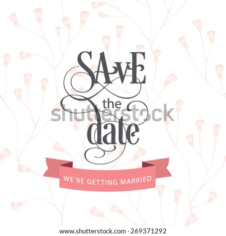 Save the date. Vector illustration - stock vector
