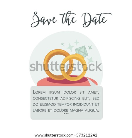 Love Forever Wedding Invitation Eps 10 Stock Vector 255317110