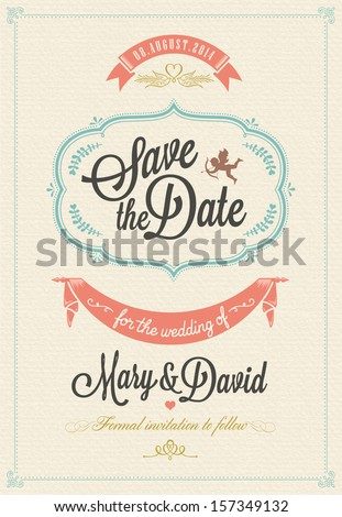 Great Save The Date, Wedding Invitation Card