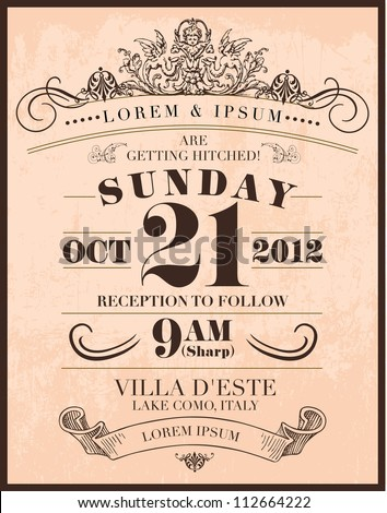 Art deco stock images royalty free images vectors for Vintage save the date templates free