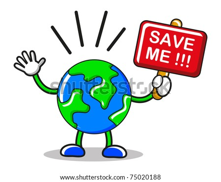 save the earth - stock vector