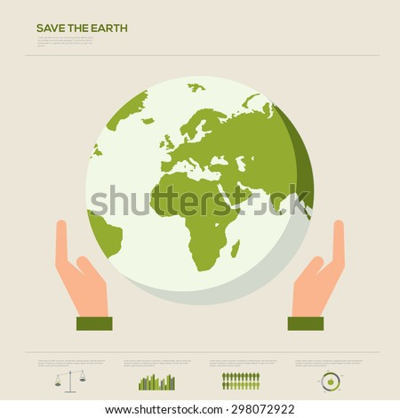 Save the earth Infographic vector illustration