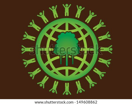Save The Forest - stock vector