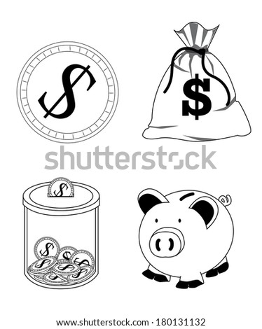 save the money signs over white background vector illustration