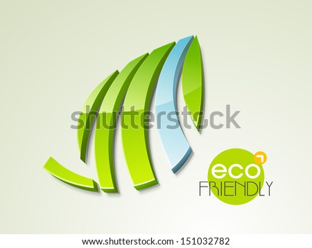 Save the nature concept with green leaves and water. - stock vector