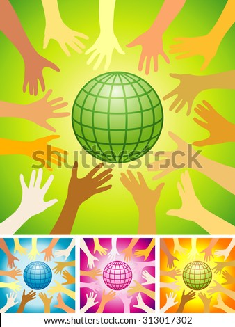 Save the planet! - stock vector