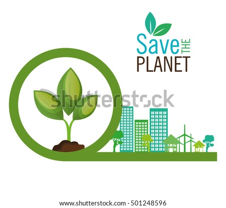 save the planet industrial ecology symbol