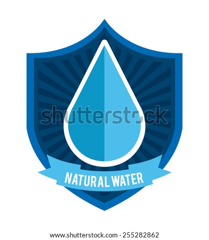 save the water design, vector illustration eps10 graphic  - stock vector