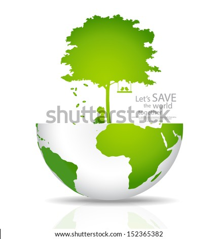 Save the world. Vector illustration - stock vector