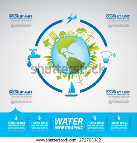 Save Water - stock vector