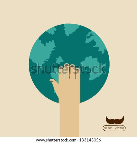 save world - stock vector
