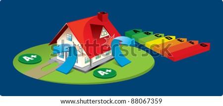 saving energy - stock vector