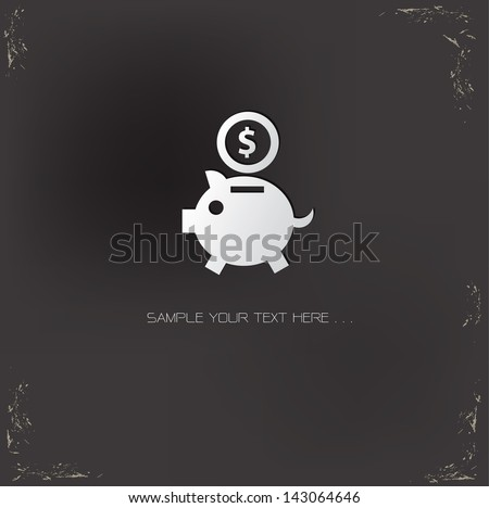 Saving money symbol,vector - stock vector