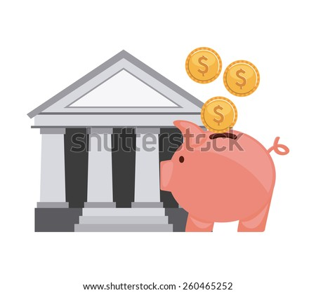 savings design, vector illustration eps10 graphic  - stock vector
