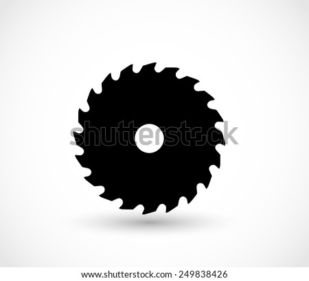 Saw icon vector - stock vector
