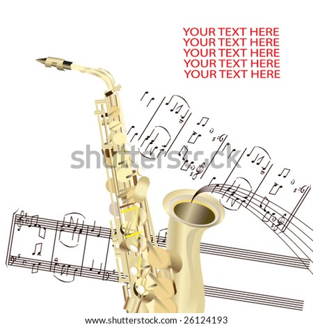 Sax  background - stock vector