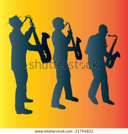Sax Trio - stock vector