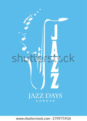 Saxophone Motif - Retro Illustration - stock vector