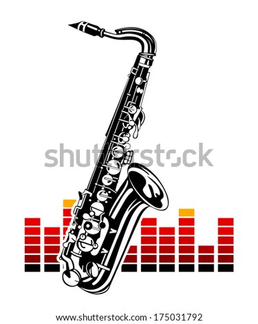 Saxophone with equalizer. Music Instrument - stock vector