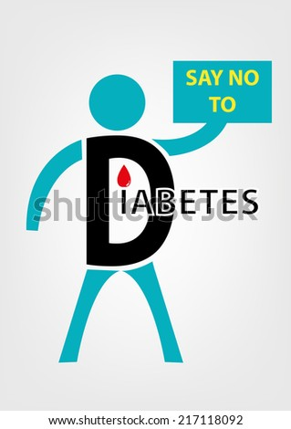 Say No to Diabetes Concept.  - stock vector