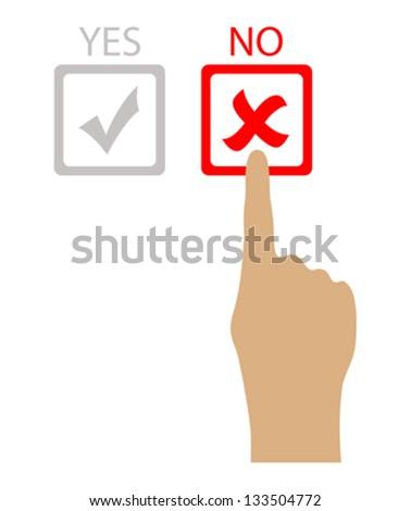 Say no, vector illustration - stock vector
