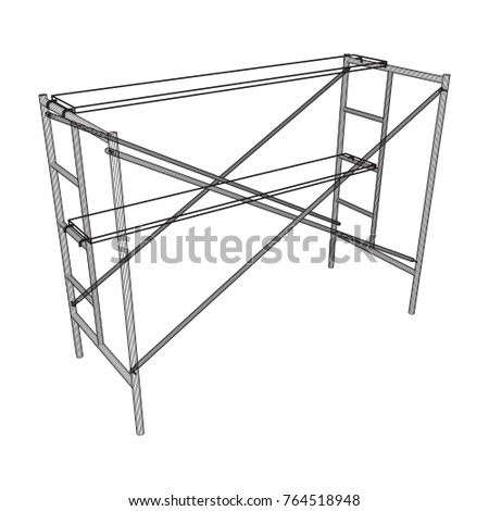 Scaffolding construction furniture wireframe blueprint linear vector scaffolding construction furniture wireframe blueprint linear outline illustration malvernweather Images