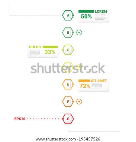 Scalable Vector Infographic timeline report template element, business brochure color concept, can be used for print, web site design and other media - stock vector