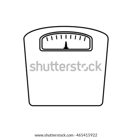 scale fitness healthy lifestyle icon. Isolated and flat illustration. Vector graphic